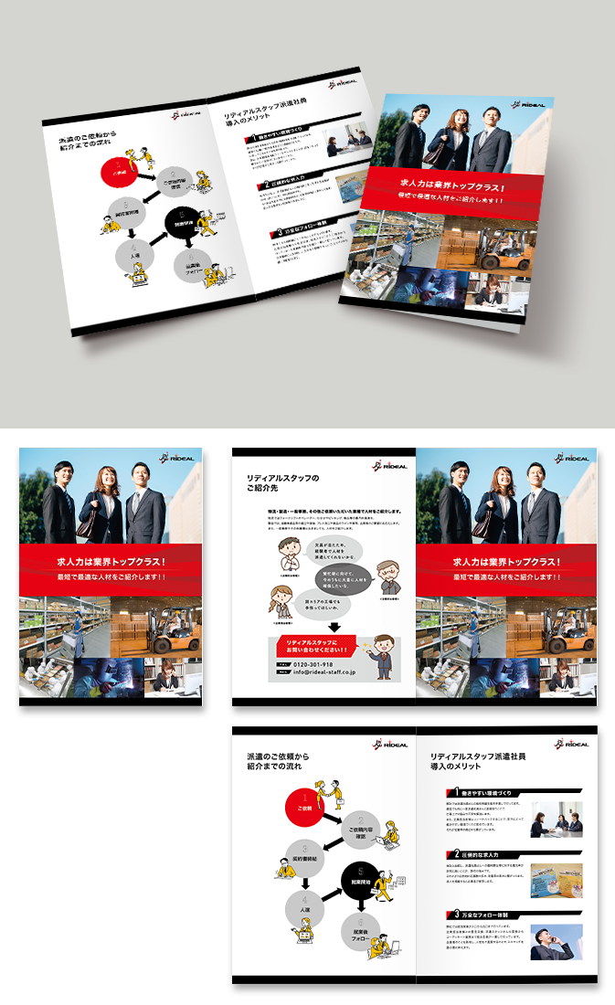 株式会社リディアルスタッフパンフレットデザイン